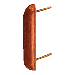 The photo of wooden-pulls